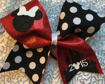 Disney Cheer Bow - Minnie Mouse Inspired- your choice of color