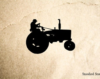 Tractor silhouette | Etsy