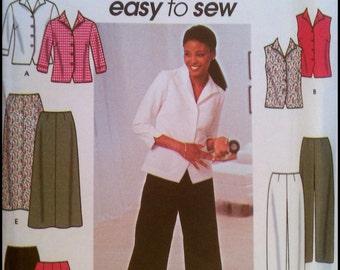 Simplicity 9158  Misses' Shirt, Pants and Skirt.   Size (6-12)   UNCUT