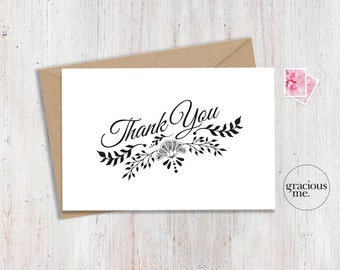 Thank You Card 6x4 - Instant Download - Printable - Thank-you Card. Various sizes available