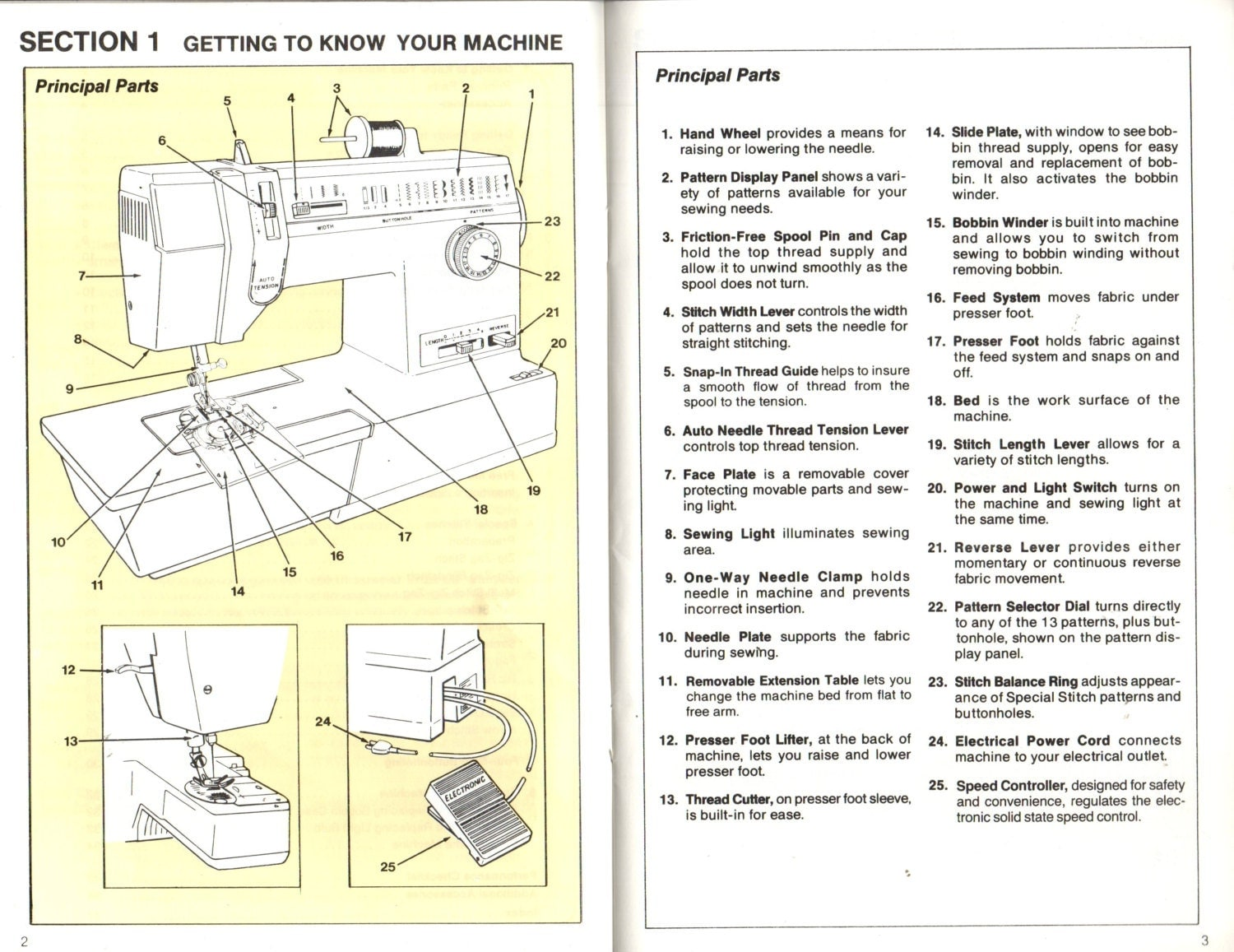 Singer Sewing Machine Model 6234 Original Manual 1979 Sewing