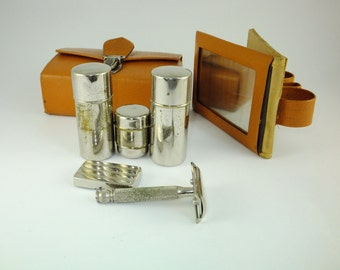 Vintage Compact Russian Small Travel Shaving Set, Father's day Gift