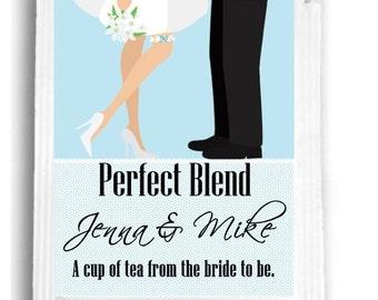 20 Bride and Groom Bridal Shower Tea Favors