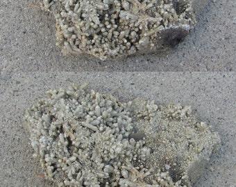 Large Quartz Point Plate Specimen with Calcite