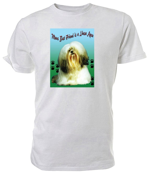Lhasa Apso T shirt. classic round neck short sleeved choice of sizes and colours