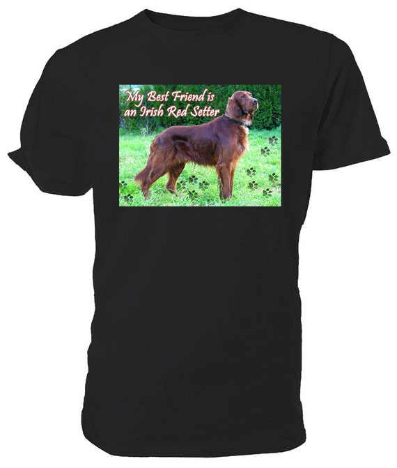 Irish Red Setter T shirt. classic round neck short sleeved choice of sizes and colours