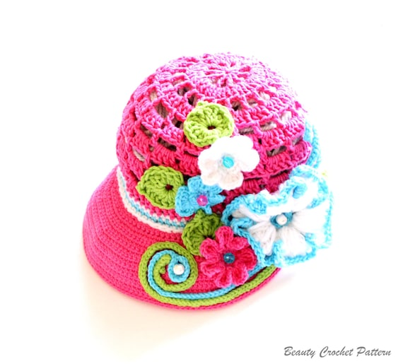 Crochet Newsboy Hat Pattern : Crochet Newsboy Hat Pattern, Crochet Newsboy Cap Pattern, Crochet ...