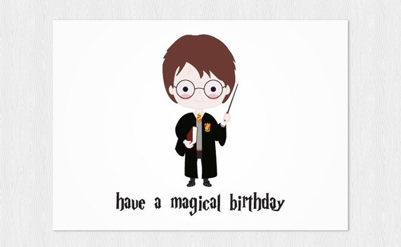 Harry Potter Birthday Cards Free Printable ~ Harry potter printable birthday cards memes