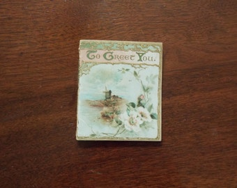 VINTAGE LISTING: To Greet You Poetry Booklet Gift Floral