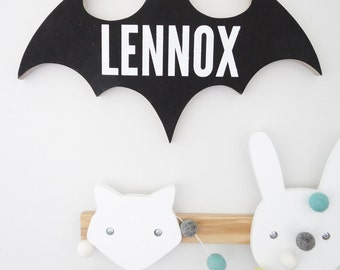 Personalised Batman Timber/ Wooden Name Sign