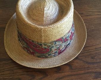 Vintage Dobbs Straw Hat