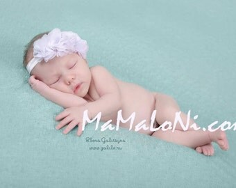 White Baby Headband, Newborn Headband, Triple Flower Baby Headband, Baby headbands, Baby girl headbands, Baby hair bows Bows