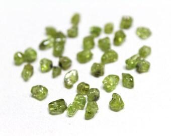 Genuine Green Peridot Small Nuggets 4mm 24pcs