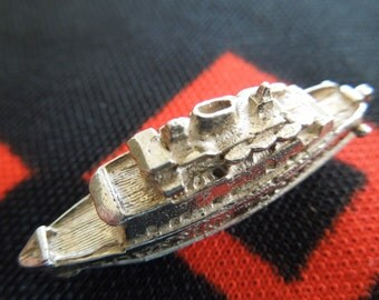 Vintage Opening Townsend Thoresen Car Ferry English Charm Opens To Cars On Deck Silver Charm for Bracelet from Charmhuntress 01934