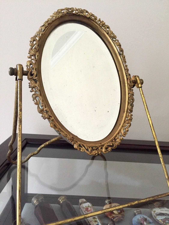 antique victorian mirror vintage vanity table top oval dresser. Black Bedroom Furniture Sets. Home Design Ideas