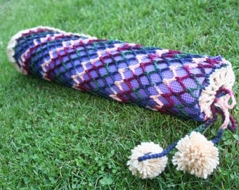 Instant Download PDF Crochet Pattern with 23 Pictures - Mesh Yoga Mat Bag