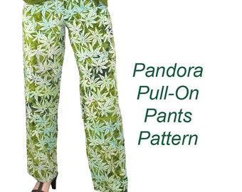 Pandora Pull On Pants Pattern, BSS117
