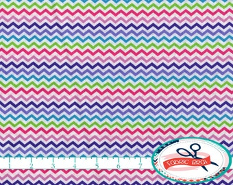 RAINBOW CHEVRON Fabric by the Yard, Fat Quarter Pink & Purple Fabric Small Chevron Fabric Quilting Fabric Apparel 100% Cotton Fabric w2-11