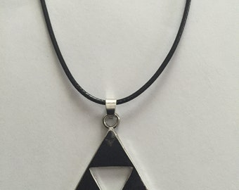 Legend of Zelda Triforce Necklace, Zelda Necklace, Zelda, Necklace, Silver Necklace