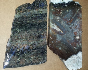 Colorful Agate and Unakite SLAB / lapidary material / COLORFUL / lapidary rough / cabbing rough / cabbing material