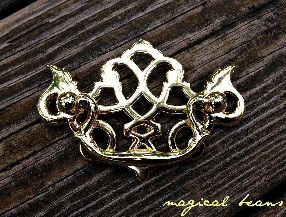Chippendale Drawer Pull Lattice Gold Drawer Pull Kbc Dresser