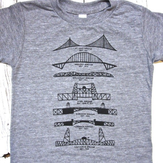 Portland bridges toddler shirt american apparel by for Portland t shirt printing