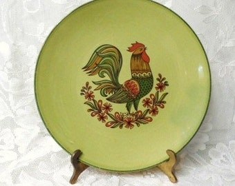 Rooster egg plate etsy for Egg tray wall hanging