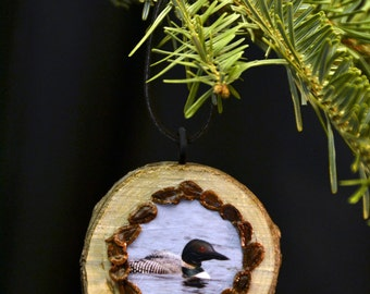 """LOON Wood ORNAMENT - """"LOON in Spring"""""""