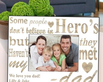 Personalized Father's Day Frame - My Dad My Hero Father's Day Frame - Father's Day Gifts - GC1273 MYHERO