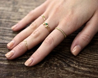 14k Yellow Gold Bubble Band - solid yellow gold eternity band, stacking ring, wedding band