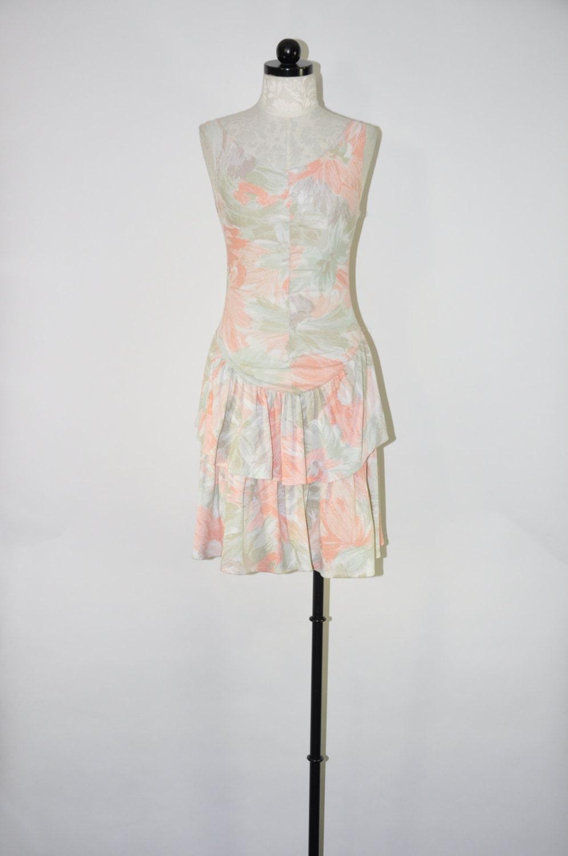 90s Pastel Tank Dress Cotton Tee Shirt Dress Abstract