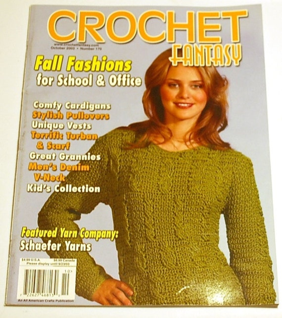 Crochet Fantasy Magazine : Crochet Fantasy Magazine - October 2003 - Crochet Scarf Patterns