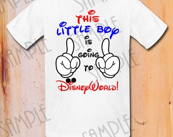This little Boy is Going to Disney World! Disney Family Vacation shirt, Mickey Mouse trip to DisneyWorld First trip to Disneyland shirts