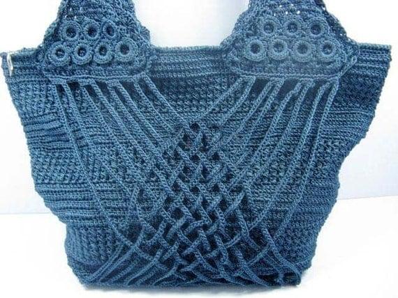 Crochet Summer Bag : crochet bag fashion summer bag handbag crochet shoulder bag extra ...