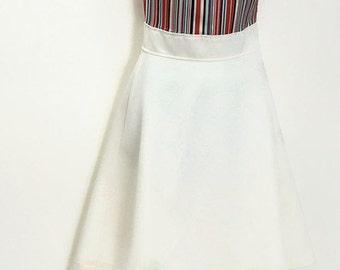 1970 Mini Dress. Vintage Patriotic, Mod Mini Dress. Size Small