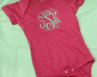 Monogram Infant Onesie