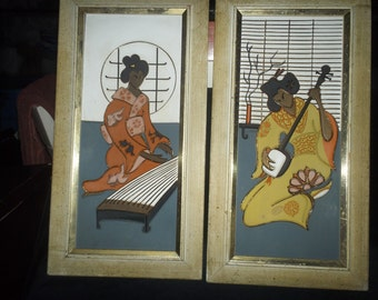 Geisha Girl Turner Wall Accessory Pictures