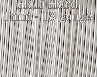 10FT (3mt), Silver filled wire Half Hard round 1mm 18ga - fine silver filled wire tarnish resistant - 10%Discount price bulk quantity