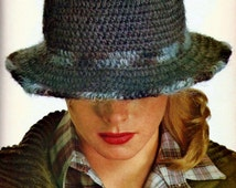 Basic 1970's Cloche Hat PDF Crochet Pattern