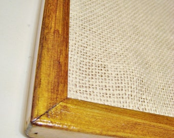 Vintage Style Pinboard - Teak Stained & Varnished
