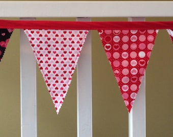 Fabric Banner - Valentine's Day