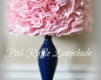 SALE 25% OFF!! Pink Ruffled Lamp Shade Ruffles Lampshade very beautiful or Custom make one with a color of your choice.