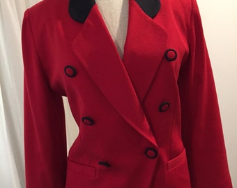 1980 RED JACKET – Matching Buttons
