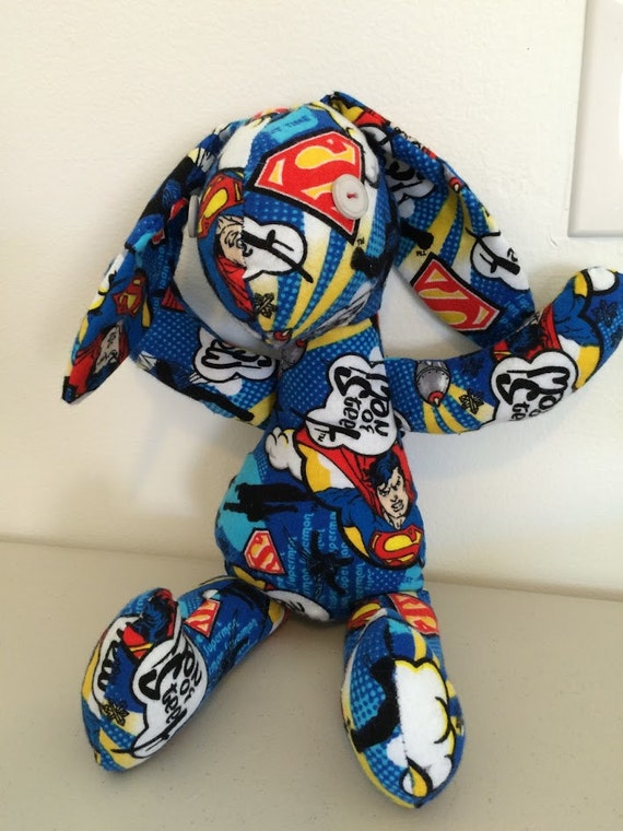 handmade by heros handmade bunny superman bunny by bittlesboutique 3043