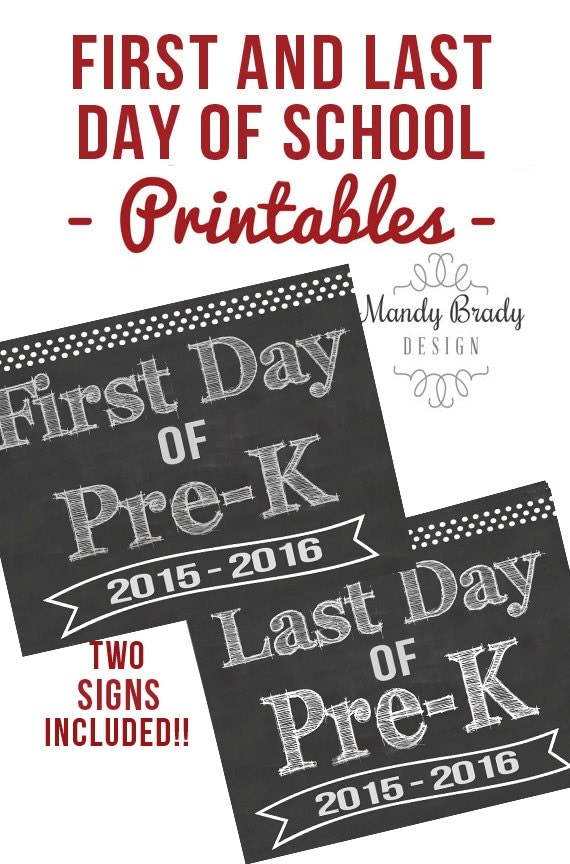 It's just a photo of Unforgettable First Day of Pre K Printable Sign