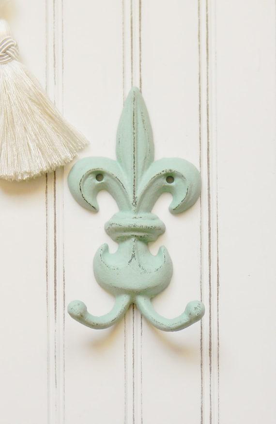 Wall hooks coat hooks fleur de lis wall hook french - Fleur de lis coat hook ...