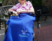 Personalized Wheelchair blanket