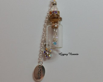 Crystal Aurora Borealis Hope Wish Bottle