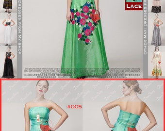 Green Maxi Dress with Heavy Lace Floral Applique - Turquoise Maxi Dress - Green Evening Dress - Long Prom Dress with Floral Applique 15N419