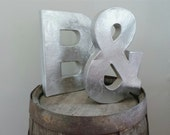 """Faux Metal Paper Mache Letters 8"""", 12"""", or 16"""" - A-Z and CUSTOM COLORS available"""